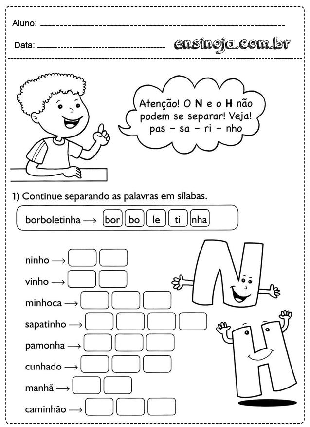 Atividades Com Sílabas Simples Para Formar Palavras Ensinoja