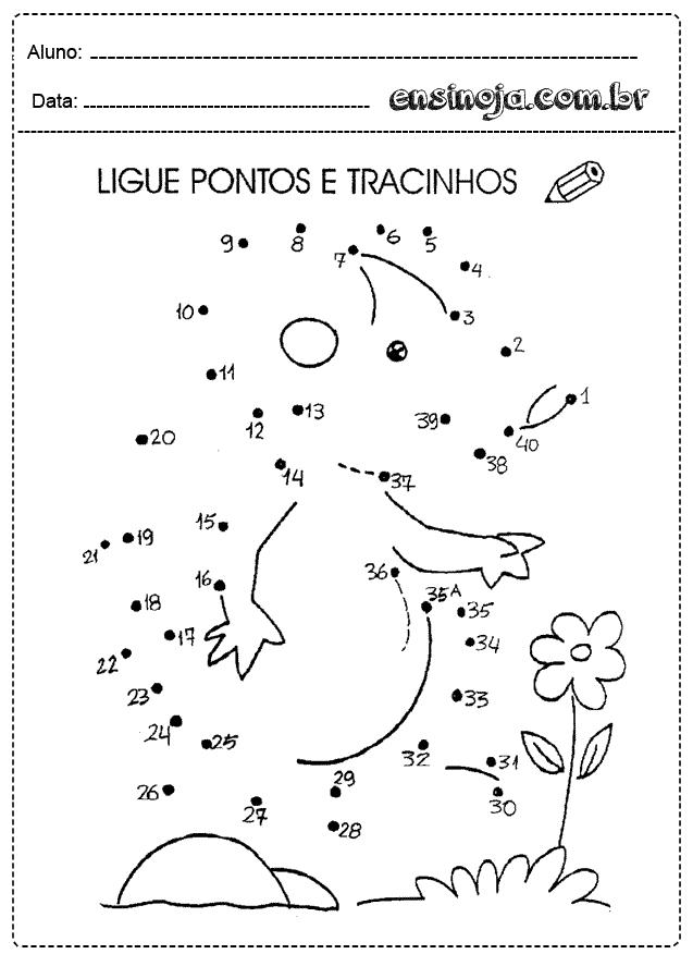 Desenhos Para Ligar Pontos E Colorir Educacao Infantil Imprimir