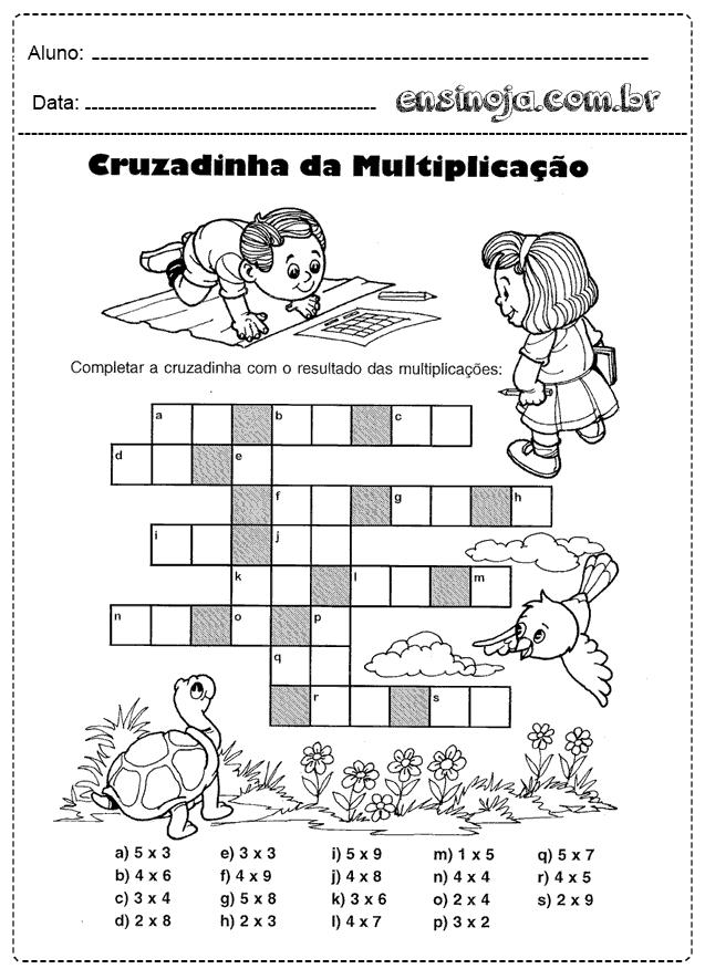 Palavras cruzadas de matemática Ensinoja