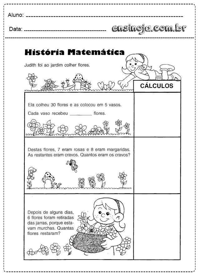 Problemas De Matematica Para Imprimir Ensinoja
